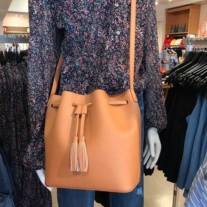 NWT J-Crew bucket bag Brown Leather